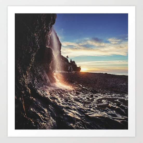 Bay of Fundy Waterfall Art Print