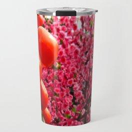 Orange Clementines and Pink Trees Travel Mug