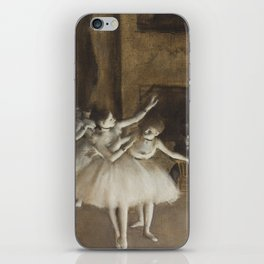 Ballet Rehearsal on Stage iPhone Skin