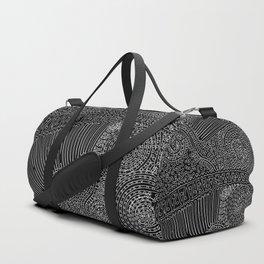 tiny lines Duffle Bag