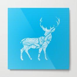White Deer - Stag Metal Print