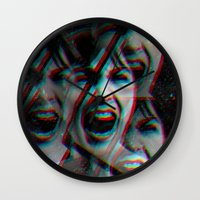 psycho Wall Clocks featuring PSYCHO by Inception of The Matrix