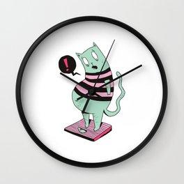 Fat Cat Cartoon Wall Clock