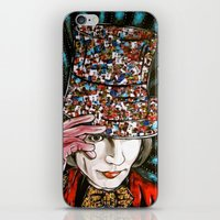 willy wonka iPhone & iPod Skins featuring Johnny Depp as Willy Wonka by Portraits on the Periphery