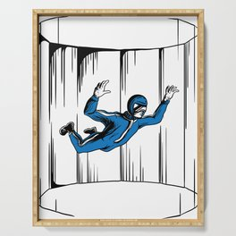 Indoor skydiving wind tunnel skydiver jumping tee Serving Tray
