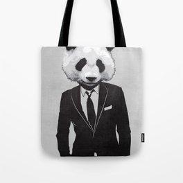 Panda Suit Tote Bag