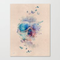 Canvas Prints featuring Skull Rainbow by Francisco Valle