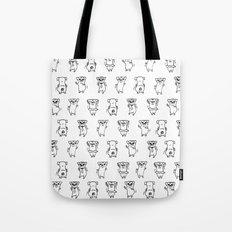 The Dancing Pugs Tote Bag