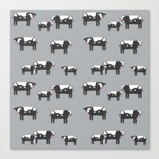 Cow farm minimal pattern animals nursery kids cattle design gifts grey Canvas Print