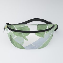 Tropical Leaves 2 Blue And Green Fanny Pack
