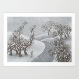 The Night Gardener - Winter Park Art Print