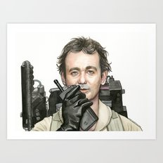 Bill Murray as Peter Venkman from Ghostbusters Art Print