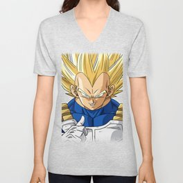 Dbz super vegeta Unisex V-Neck