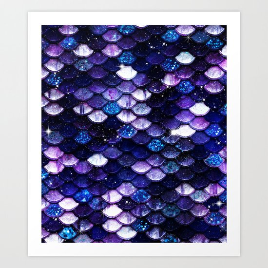 Mermaid Glitter Scales Art Print