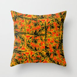 Golden Red Throw Pillow