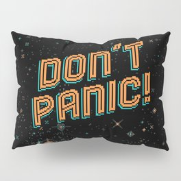 Don't Panic! Pixel Art Pillow Sham