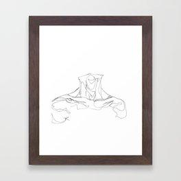 Line XIII (male [collar]) Framed Art Print