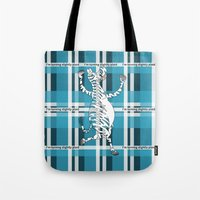 zebra Tote Bags featuring Zebra  by mailboxdisco