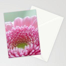 Macro photo of pink gerbera Stationery Cards