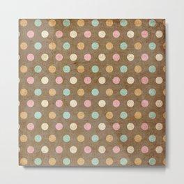pattern grundgy circles Metal Print