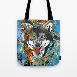 Unique Wolf Art Tote Bag