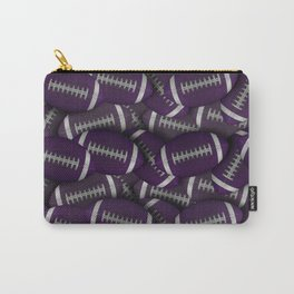 Purple Footballs Everywhere Carry-All Pouch