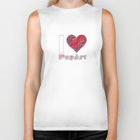 popart Biker Tanks featuring I Love Popart by Gabriel J Galvan