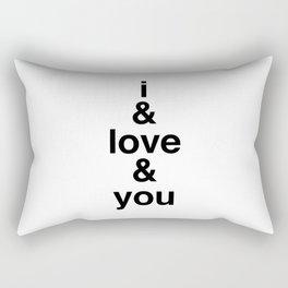 i & love & you Avett Brothers Rectangular Pillow