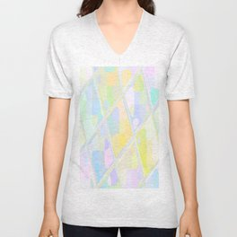 Re-Created Mirrored SQ LXXIV by Robert S. Lee Unisex V-Neck
