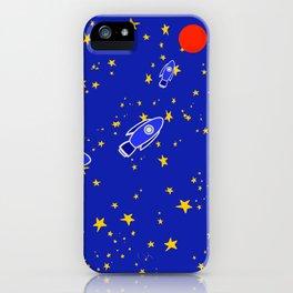 Rocketship to Mars iPhone Case
