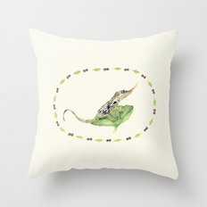 The Horned Anole Throw Pillow