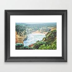 Wild seashore, Australia Framed Art Print