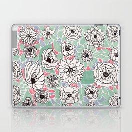 Retro Floral Laptop & iPad Skin