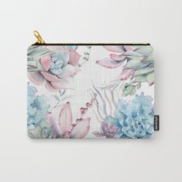 Pretty Pastel Succulents Garden 2 Carry-All Pouch