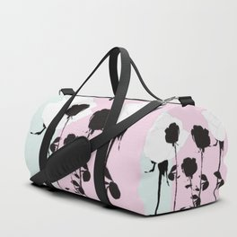 Roses with ink Duffle Bag