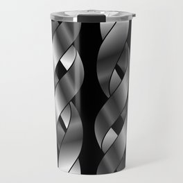 Twisted silver helix Travel Mug
