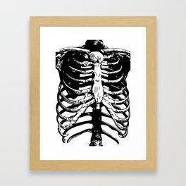 Skeleton Ribs | Skeletons | Rib Cage | Human Anatomy | Black and White | Framed Art Print