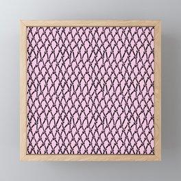Fishing Net Black on Blush Framed Mini Art Print