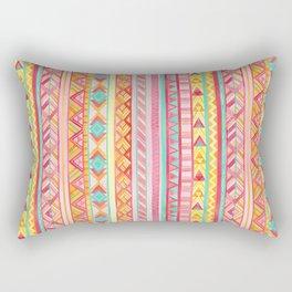 Summer Sun // Geometric Watercolor Rectangular Pillow