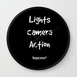 Lights Camera Action!  Wall Clock