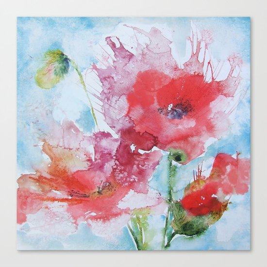 Poppies 04 Canvas Print