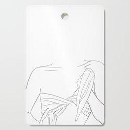 minimal line art - beach fashion Cutting Board