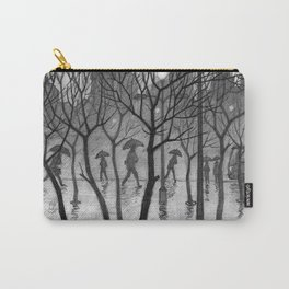 Bus stop in the rain Carry-All Pouch