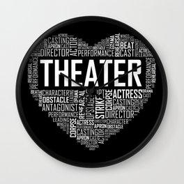 Love Theater Heart Wall Clock