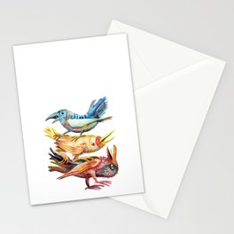Three Birds Stacked Stationery Cards