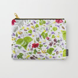 Leaves and flowers pattern (27) Carry-All Pouch