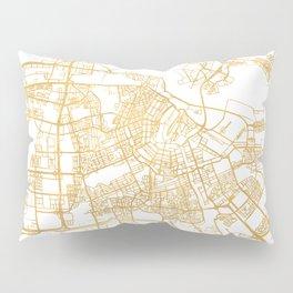 AMSTERDAM NETHERLANDS CITY STREET MAP ART Pillow Sham