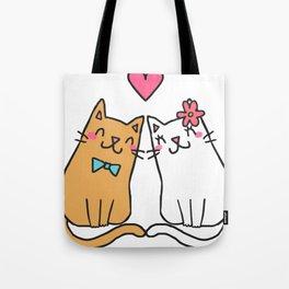 Cute Cat Lover Tote Bag