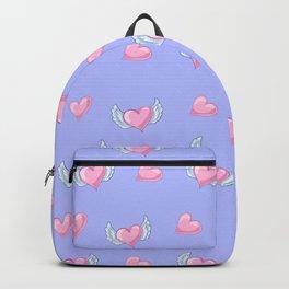 Romantic lavender blush pink love hearts valentine's Backpack