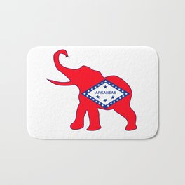 Arkansas Republican Elephant Flag Bath Mat